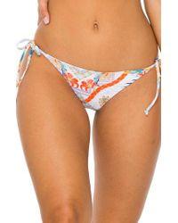 Luli Fama Orange Side Tie Brazilian Bikini Bottoms