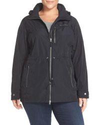Columbia Black Suburbanizer Water Resistant Front Zip Hooded Jacket
