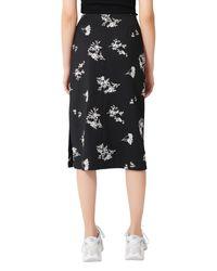 Maje Black Japeni Floral Embroidered Skirt