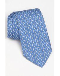 Vineyard Vines | Blue 'lacrosse' Silk Tie for Men | Lyst