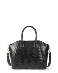 Sole Society Black Adrina Faux Leather Satchel