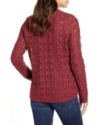 Caslon Red Caslon Brushed V-neck Sweater