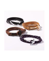 Miansai Black 'noir' Anchor Leather Bracelet for men