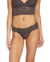 Cosabella - Gray 'never Say Never Cutie' Thong - Lyst