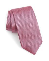 BOSS Purple Solid Silk Tie for men