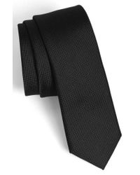 Calibrate - Black Woven Silk Tie for Men - Lyst