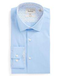 Ted Baker - Blue Booker Slim Fit Dress Shirt for Men - Lyst