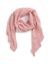 Sole Society Red Engineer Stripe Scarf