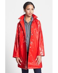 Jane Post   Red 'princess' Rain Slicker With Detachable Hood   Lyst