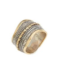 Konstantino - Metallic 'hebe' Wavy Etched Band Ring - Lyst