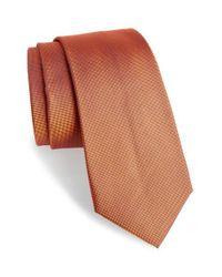 Calibrate | Orange Woven Silk Tie for Men | Lyst
