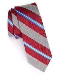 Nordstrom Red 1901 'brady' Woven Silk Blend Tie for men