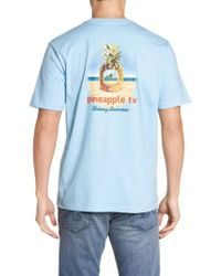 Tommy Bahama   Blue Pineapple Tv Graphic T-shirt for Men   Lyst