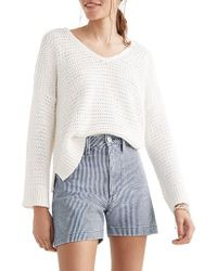 Madewell - White Breezeway Pullover Sweater - Lyst