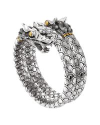 John Hardy - Metallic 'Naga' Double Coil Dragon Bracelet - Lyst