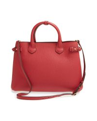 Burberry Red 'banner' Tote