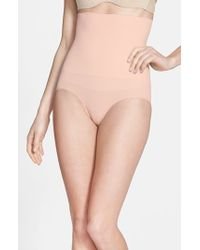 Yummie By Heather Thomson | Natural 'cameo' High Waist Smoother Briefs | Lyst
