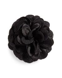Hook + Albert | Black Lapel Flower | Lyst