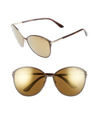 b2f8de390263 Gallery. Previously sold at  Nordstrom · Women s Tom Ford Cat Eye Women s  Half Framed Sunglasses ...