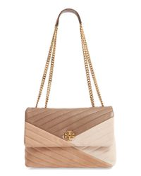 Tory Burch Multicolor Kira Colorblock Quilted Leather Shoulder Bag -