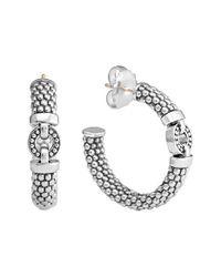 Lagos - Metallic 'enso' Station Caviar Hoop Earrings - Lyst