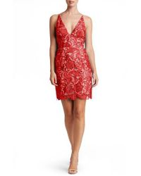 Dress the Population | Red Allie Sheath Dress | Lyst