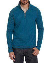 Robert Graham - Blue Warrensburg Herringbone Quarter Zip Pullover for Men - Lyst
