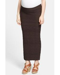 Tees by Tina - Brown '' Maternity Maxi Skirt - Lyst