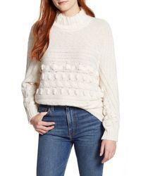 Caslon White Caslon Textured Mock Neck Sweater