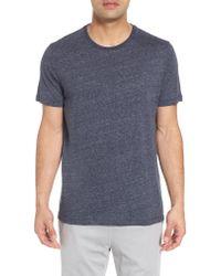 Daniel Buchler - Blue Recycled Cotton Blend T-shirt for Men - Lyst