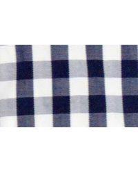 Lorenzo Uomo Blue Trim Fit Gingham Dress Shirt for men