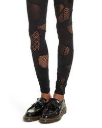 Junya Watanabe | Black Patchwork Leggings | Lyst