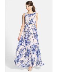 Eliza J | Blue Chiffon Maxi Dress | Lyst