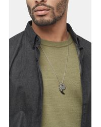 John Hardy Gray Men's Legends Naga Charm Necklace for men