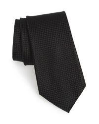 Nordstrom Yellow Check Silk Tie for men