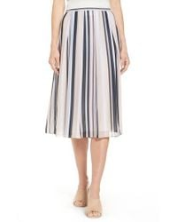 Anne Klein - Black Stripe A-line Skirt - Lyst