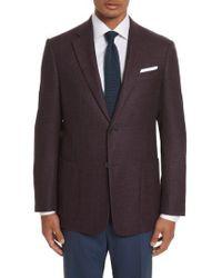 Armani | Blue Armani Collezioni G-line Trim Fit Wool Blazer for Men | Lyst