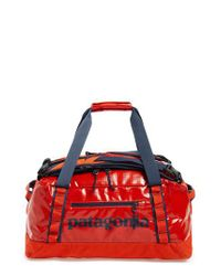 Patagonia - Red Black Hole Water Repellent Duffel Bag for Men - Lyst