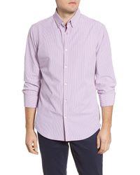 Mizzen+Main Multicolor Mizzen + Main Leeward Trim Fit Button-down Performance Shirt for men