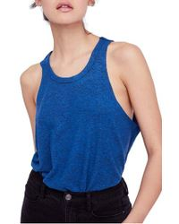 Free People Blue We The Free By Coziest Swing Tank