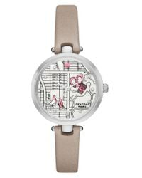 Kate Spade - Metallic Holland Map Leather Strap Watch - Lyst