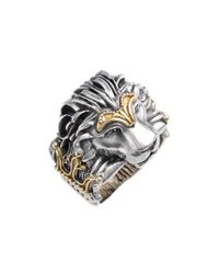Konstantino - Metallic Carved Lion Ring - Lyst