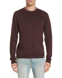 Norse Projects - Purple Vagm Crewneck Cotton Sweatshirt for Men - Lyst