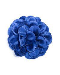 Hook + Albert - Blue Large Lapel Flower - Lyst