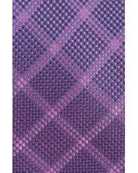 Calibrate Purple Fetter Plaid Silk Tie for men