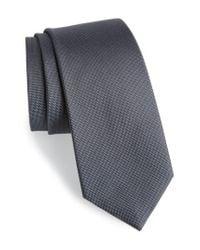 Calibrate Gray Woven Silk Tie for men