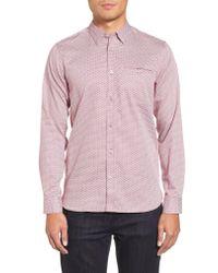Ted Baker - Pink Vilamor Extra Slim Fit Print Sport Shirt for Men - Lyst