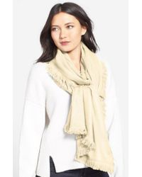 La Fiorentina - Natural Wool & Cashmere Scarf - Lyst