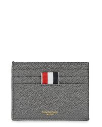 Thom Browne Blue 4-bar Edge Stain Note Cardholder for men