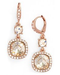 Givenchy - Pink 'legacy' Drop Earrings - Lyst